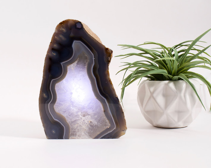 Agate Geode Table Lamp