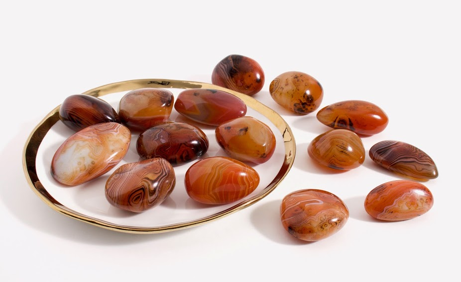 Red Lace Agate Gallet